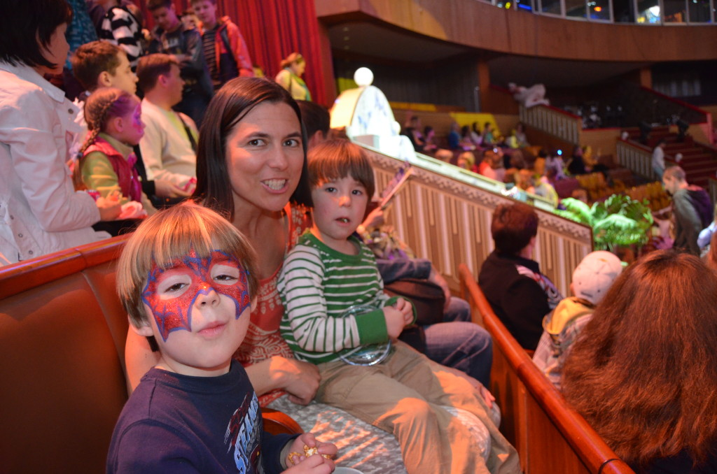 Mara and twins at circus
