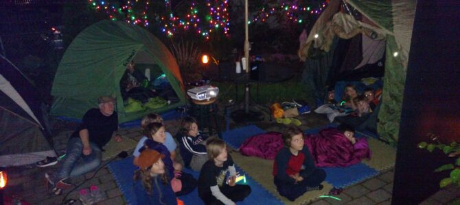 Spooky Backyard Campout